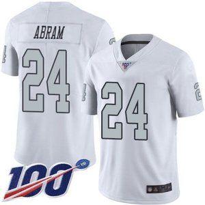 Raiders Johnathan Abram 100th Season Jersey 2